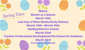 March At a Glance